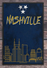 Load image into Gallery viewer, Nashville/Skyline/Nashville Predators/Nashville Preds/Predators/Nashville Travel Poster