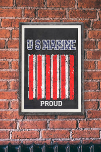 Marines/Proud/Print/US Marines/Military/USA/Marine Corp/Military Pride/Poster