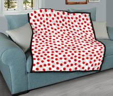 Load image into Gallery viewer, Red/Polka Dot Pattern/01/Quilt/Blanket