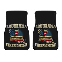 Load image into Gallery viewer, Louisiana/Firefighter/American Flag/Car/Truck/SUV/Auto/Floors Mats (2-front floor mats per order)