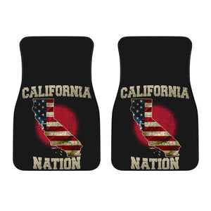 California/Nation/American Flag/Car/Truck/SUV/Auto/RV/Floor Mats (2-front floor mats per order)