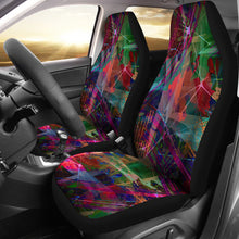 Load image into Gallery viewer, Textile Fabric Pattern/Dark/Car Seat Covers/Auto Seat Covers/SUV Seat Covers/Truck Seat Covers (Set of 2)