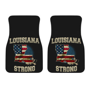 Louisiana/Strong/American Flag/Car/Truck/SUV/Auto/RV/Floors Mats (2-front floor mats per order)