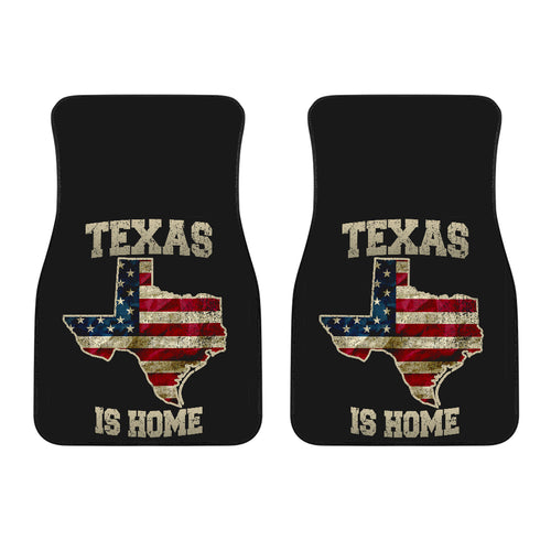 Texas/Is Home/Floor Mats/American Flag/Car/Truck/SUV/Auto/RV (2-front floor mats per order)