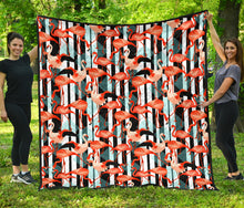 Load image into Gallery viewer, Flamingos/Black Stripe/Deco/Quilt/Bedspread