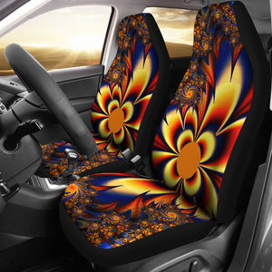 Sunburst Pattern/Red/Blue/Car Seat Covers