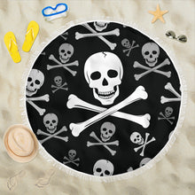 Load image into Gallery viewer, Skull and Crossbones 1/Round/Beach Blanket/Table Cloth/Shawl