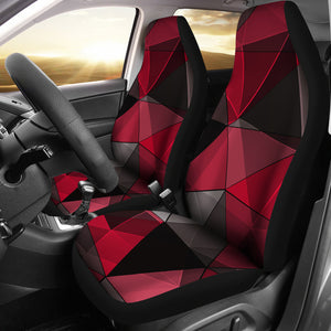 Polygonal/Black/Red/Car Seat Covers/Auto Seat Covers/SUV Seat Covers/Truck Seat Covers (Set of 2)