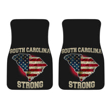 Load image into Gallery viewer, South Carolina/Strong/American Flag/Car/Truck/SUV/Auto/RV/Floor Mats (2-front floor mats per order)