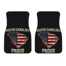 Load image into Gallery viewer, South Carolina/Proud/American Flag/Car/Truck/SUV/Auto/RV/Floor Mats (2-front floor mats per order)