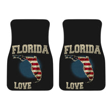 Load image into Gallery viewer, Florida/Love/American Flag/Car/Truck/SUV/Auto/RV/Floor Mats (2-front floor mats per order)