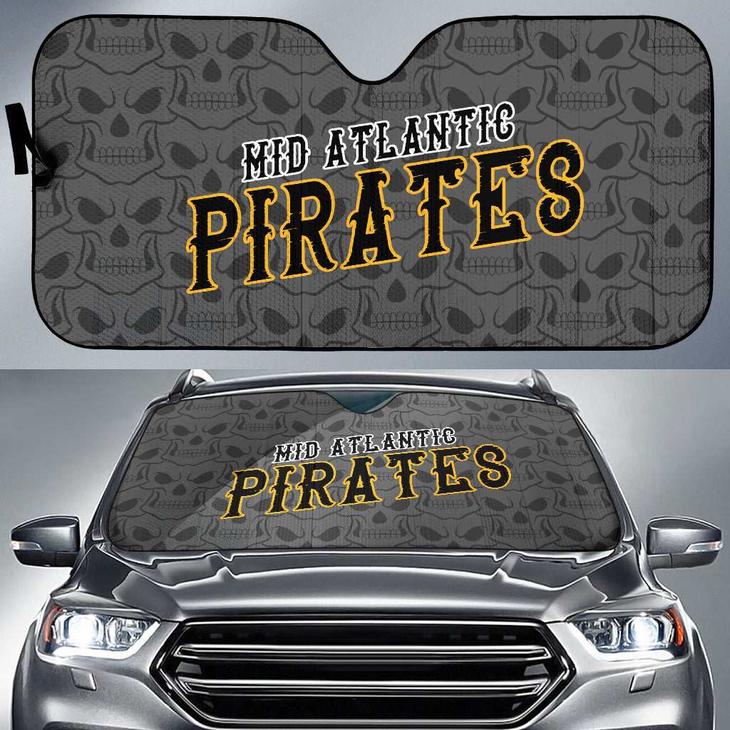 Mid Atlantic Pirates Big Skulls Car Sun Shade