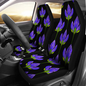 Floral Blue/Pattern/Car Seat Covers/Auto Seat Covers/SUV Seat Covers/Truck Seat Covers (Set of 2)