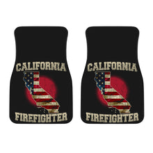 Load image into Gallery viewer, California/Firefighter/American Flag/Car/Truck/SUV/Auto/RV/Floor Mats (2-front floor mats per order)