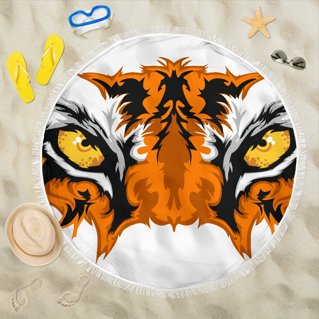 Tiger Eyes/Round/Beach Blanket/Table Cloth/Shawl