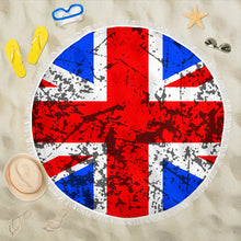 Load image into Gallery viewer, Union Jack/Round/Beach Blanket/Table Cloth/Shawl