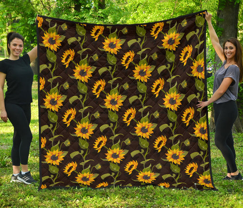 Sunflower/Sunflowers/Black/All Over/Quilt
