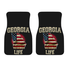 Load image into Gallery viewer, Georgia/Life/American Flag/Car/Truck/SUV/Auto/RV/Floor Mats (2-front floor mats per order)Life