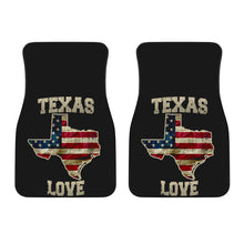 Load image into Gallery viewer, Texas/Love/Floor Mats/American Flag/Car/Truck/SUV/Auto/RV (2-front floor mats per order)