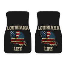 Load image into Gallery viewer, Louisiana/Life/American Flag/Car/Truck/SUV/Auto/Floors Mats (2-front floor mats per order)