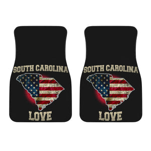 South Carolina/Love/American Flag/Car/Truck/SUV/Auto/RV/Floor Mats (2-front floor mats per order)