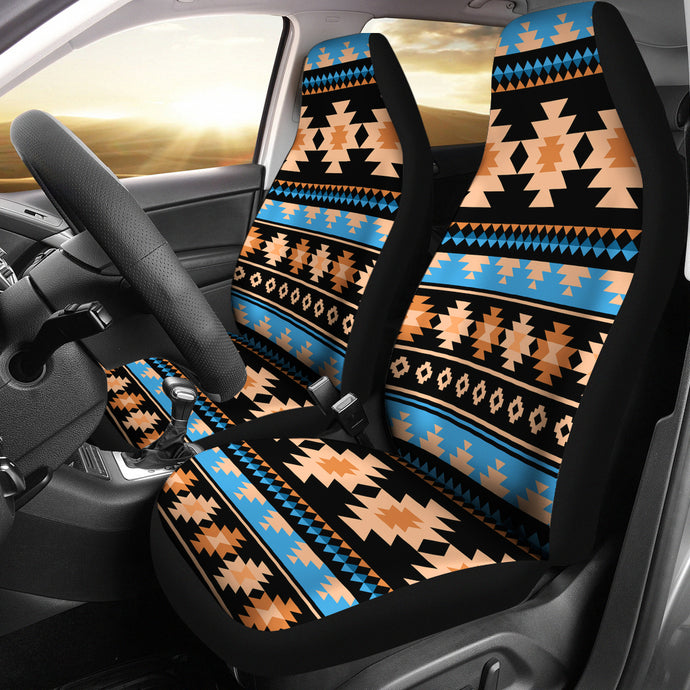 Southwest/Navajo/Native American/Blue/Brown/Micro Fiber/Auto/Car/Seat (2 seat covers per set)