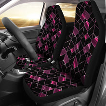 Load image into Gallery viewer, Geometric Pattern/Plum/Car Seat Covers/Auto Seat Covers/SUV Seat Covers/Truck Seat Covers (Set of 2)