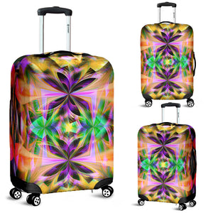 Luggage Cover/Neon/Abstract/Kaleidoscope