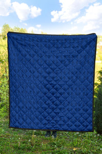 Mexican Quilt/Pattern 04/Blue/Quilt/Blanket/Bed Spread