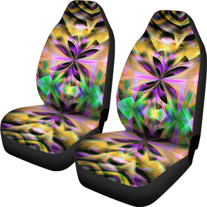Neon/Abstract/Kaleidoscope/Multi Color/Car Seat Covers/Auto Seat Covers/SUV Seat Covers/Truck Seat Covers (Set of 2)