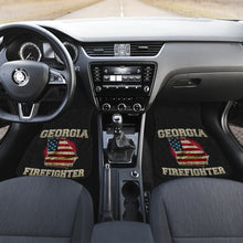 Load image into Gallery viewer, Georgia/Firefighter/American Flag/Car/Truck/SUV/Auto/RV/Floor Mats (2-front floor mats per order)
