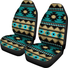 Load image into Gallery viewer, Southwest/Navajo/Native American/Green/Black/Micro Fiber/Auto/Car/Seat Covers (2 seat covers per set)