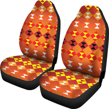 Load image into Gallery viewer, Southwest/Navajo/Native American/Orange/Micro Fiber/Auto/Car/Seat (2 seat covers per set)
