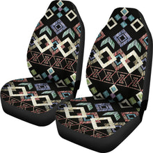 Load image into Gallery viewer, Native Pattern/Black/Car Seat Covers/Auto Seat Covers/SUV Seat Covers/Truck Seat Covers (Set of 2)