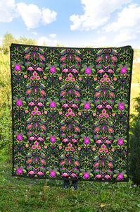 Flamingos/Floral Neon/Quilt/Bespread