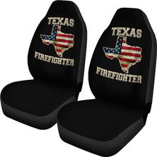 Load image into Gallery viewer, Texas/Firefighter/Seat Covers/American Flag/Car/Truck/SUV/Auto (2 seat covers per set)