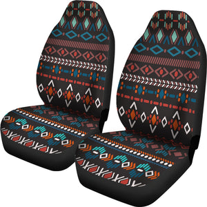 Southwest/Navajo/Native American/Blue/Diamond/Micro Fiber/Auto/Car/Seat (2 seat covers per set)