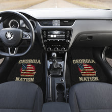 Load image into Gallery viewer, Georgia/Nation/American Flag/Car/Truck/SUV/Auto/RV/Floor Mats (2-front floor mats per order)