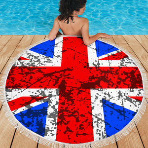 Union Jack/Round/Beach Blanket/Table Cloth/Shawl