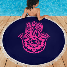 Load image into Gallery viewer, Namaste 1/Round/Beach Blanket/Table Cloth/Shawl