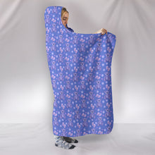 Load image into Gallery viewer, Teddy Bears Hearts Purple Hoodie Blanket