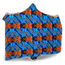 Load image into Gallery viewer, Hoodie Blanket/Neon Blue/Pattern