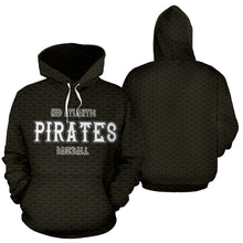 Load image into Gallery viewer, Mid Atlantic Pirates BB Club Hoodie Skulls Yellow Grey