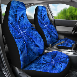 Ice Northern Cross/Blue/Car Seat Covers/Auto Seat Covers/SUV Seat Covers/Truck Seat Covers (Set of 2)