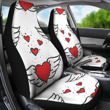 Load image into Gallery viewer, Winged Hearts/Hearts/Red Hearts/Car Seat Covers