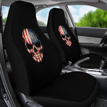 Load image into Gallery viewer, Skulls/American Flag Design/American Flag/Flag/Auto Seat Covers/SUV Seat Covers/Truck Seat Covers (2 seat covers per order)