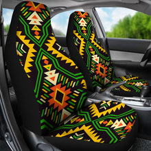 Load image into Gallery viewer, Southwest/Navajo/Native American/Green/Yellow/Micro Fiber/Auto/Car/Seat (2 seat covers per set)
