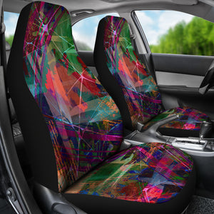 Textile Fabric Pattern/Dark/Car Seat Covers/Auto Seat Covers/SUV Seat Covers/Truck Seat Covers (Set of 2)