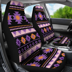 Southwest/Navajo/Native American/Purple/Black/Micro Fiber/Auto/Car/Seat Covers (2 seat covers per set)
