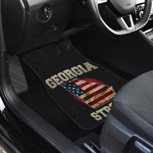 Load image into Gallery viewer, Georgia/Strong/American Flag/Car/Truck/SUV/Auto/RV/Floor Mats (2-front floor mats per order)